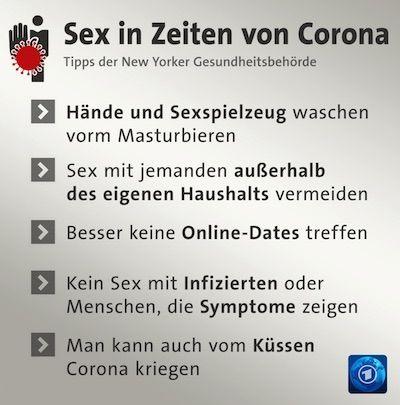 Corona - Sex Hinweise der Tagesschau